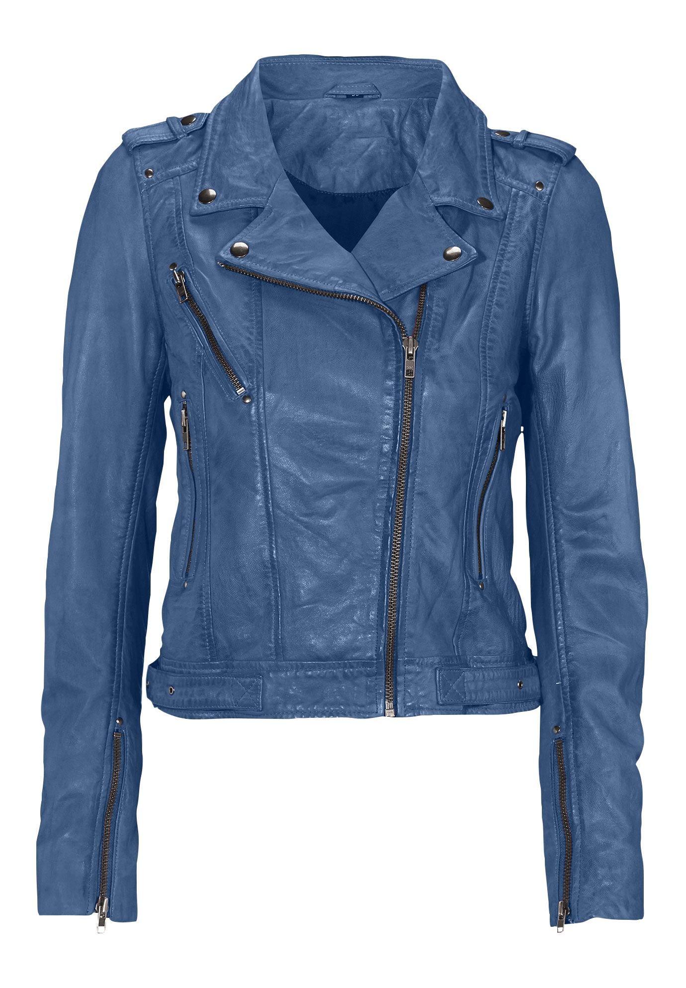 Ellos Womens Plus Size Faux Leather Moto Jacket