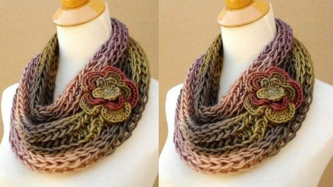Chalina Bufanda a Crochet para Mujer  33a756e8191