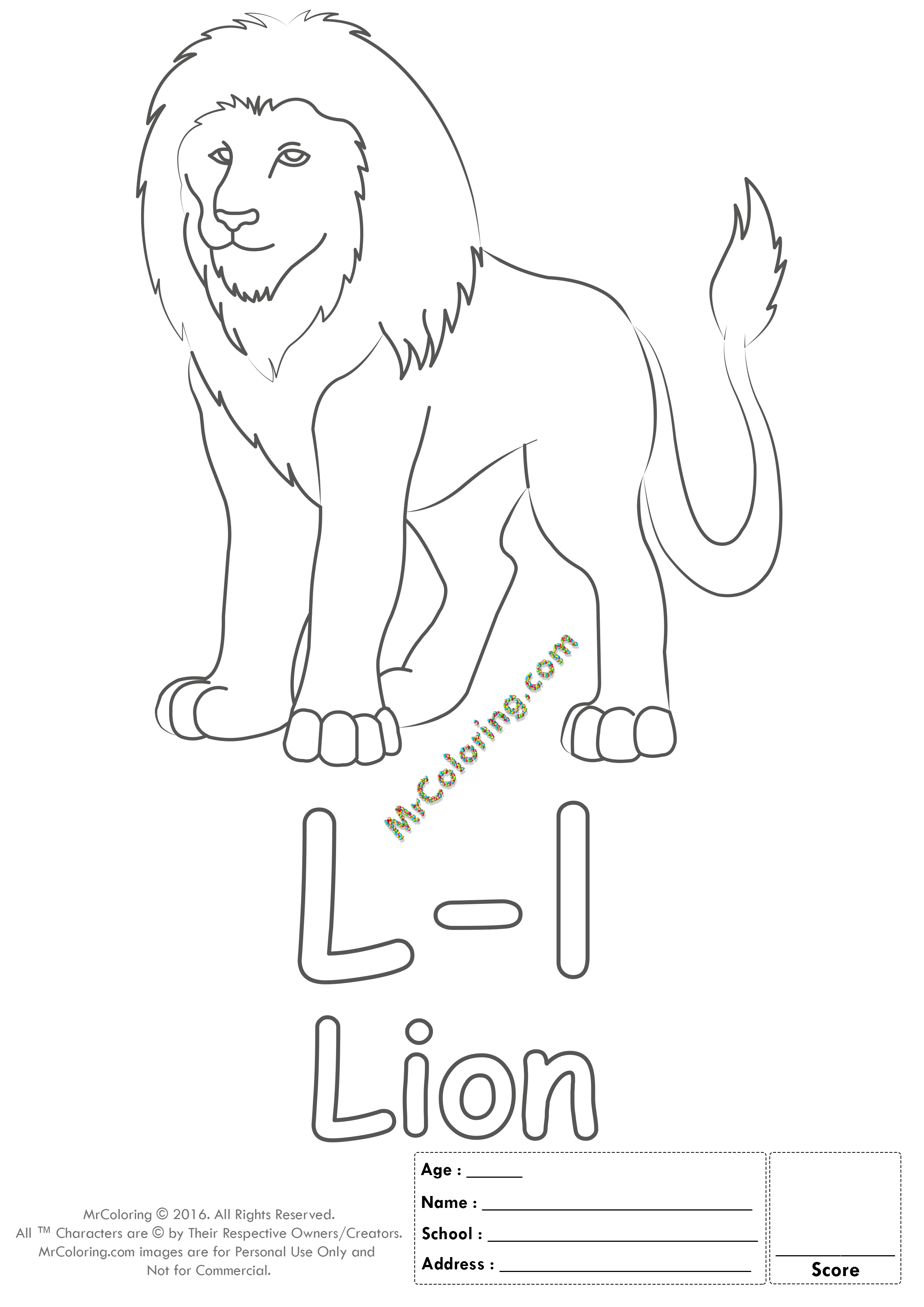 Alphabet Letter Ll Coloring Pages Coloring Worksheets