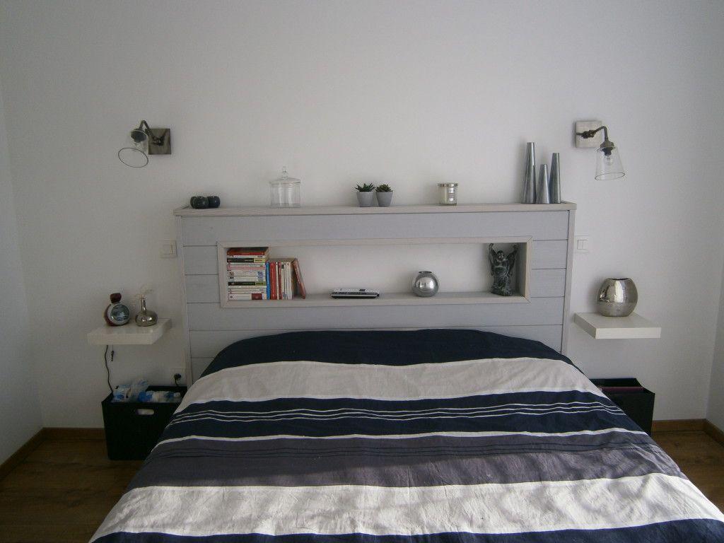 ide tete de lit en lambris pallet furniture furniture decor furniture design bed - Idee Tete De Lit