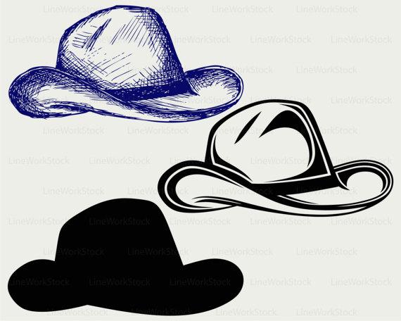 Cowboy hat svg. Clipart silhouette cricut