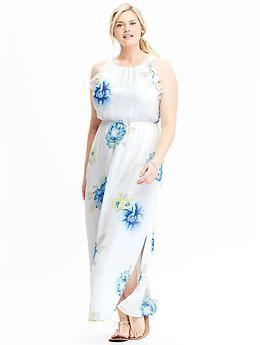 Women\'s Plus Floral Chiffon Maxi Dresses | Old Navy | Floral ...