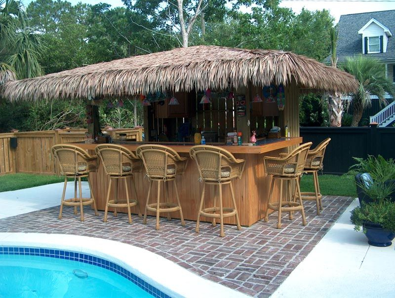 These cozy patio tiki hut bars ideas will accomplish your for Beach bar decorating ideas