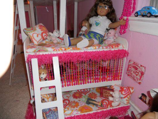 Etagenbett Puppe : Scrap holz etagenbett für american girl oder zoll puppe gunook