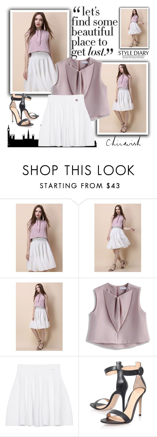 """""""ChicWish"""" by lejal-deljic ❤ liked on Polyvore featuring Chicwish, Kenzo and Gianvito Rossi"""