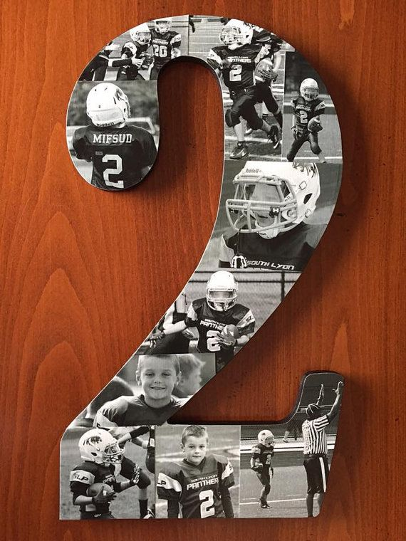Sports Number Photo Collage By Showoffsbystephanie On Etsy Football Banquet Football Gifts Soccer Banquet