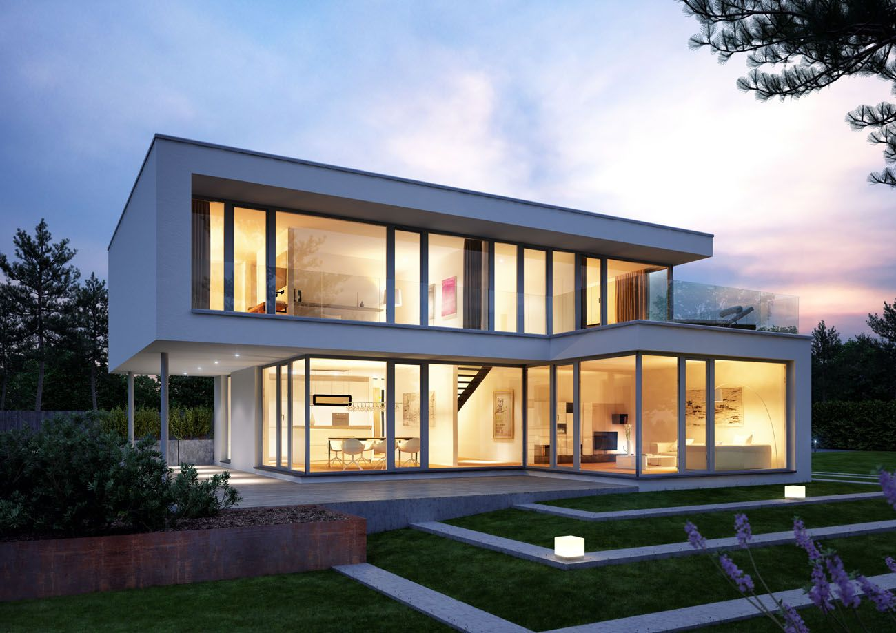 Hybre Architecte Lichtecht House Salzburg Architecture Visualizations Modern