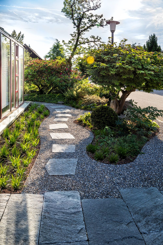 Wunderbar Gartengestaltung Vorgarten Dekoration Von Asiatisch Angehauchter - Parc