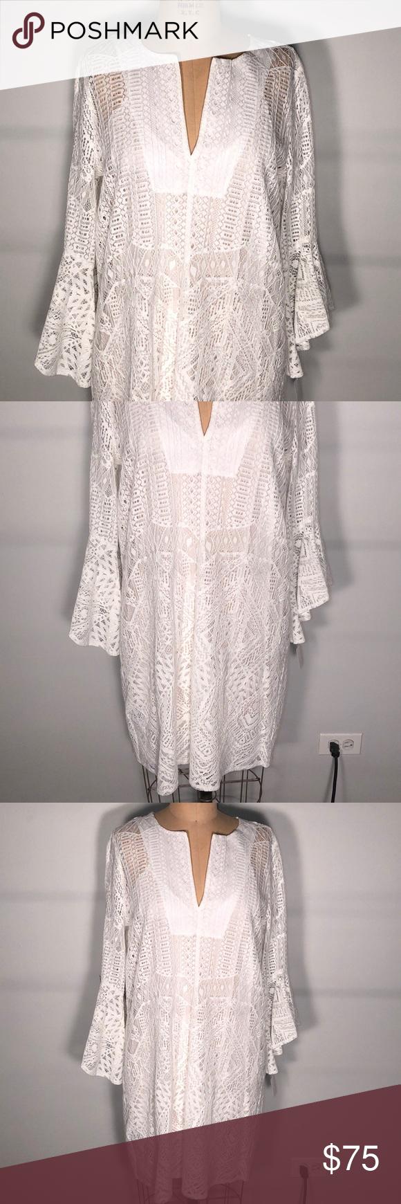 Bcbgmaxazria White Lace Slip Dress Boho Dress S Lace Slip Dress Boho Dress Lace Slip [ 1740 x 580 Pixel ]