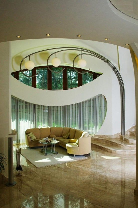 The owner, designer of this masterpiece is Polish architect Dagmara Obluska. Extraordinary Polish Residence With Odd Architectural Appearance,