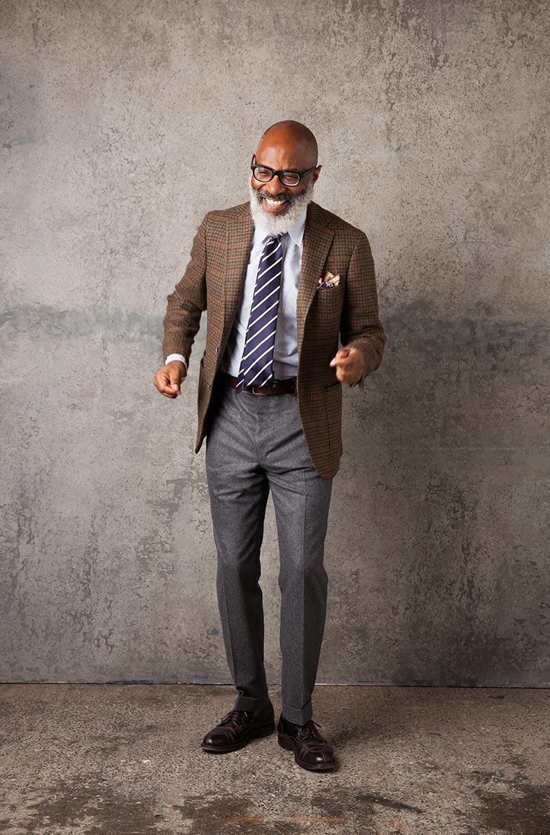 Men's grey flannel trousers  Drakes London AW  Menus Fashion  Pinterest  Mens fashion