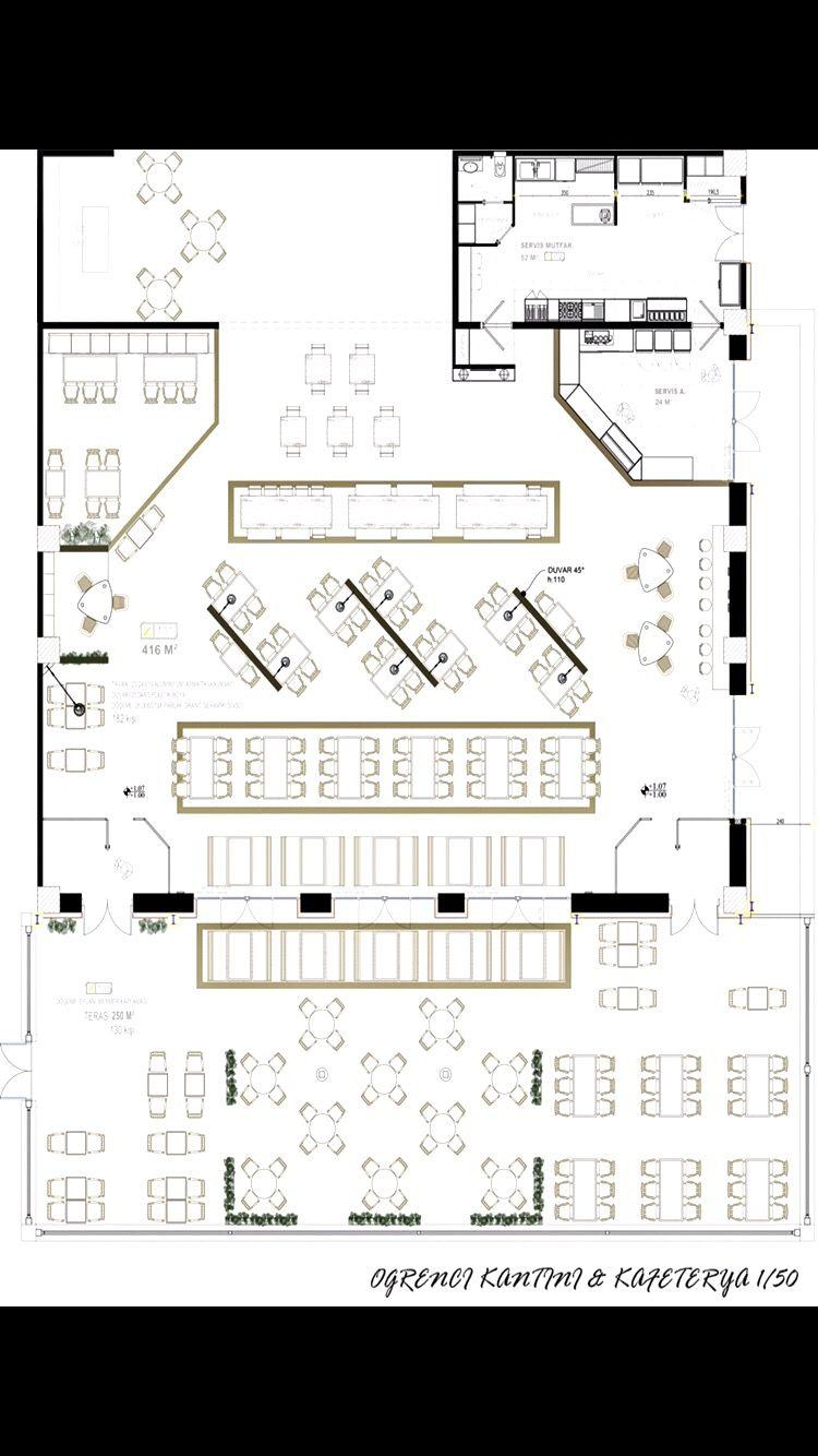 Canteen Project Plan Cafeteria Design Restaurant Floor Plan