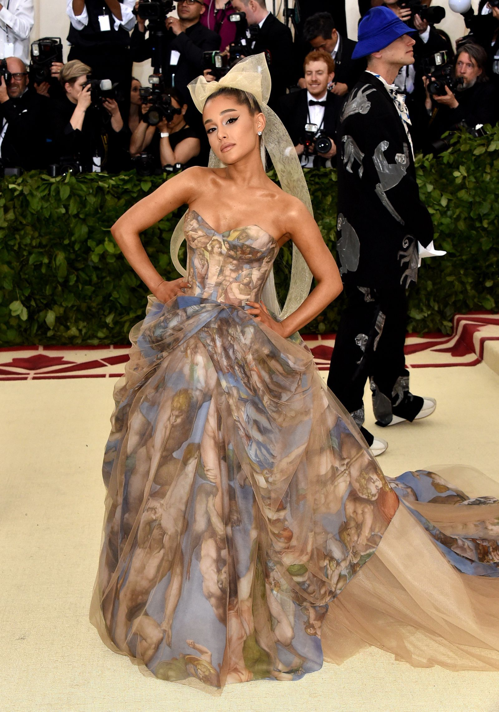 Ariana Grande Gold Fringe Dress
