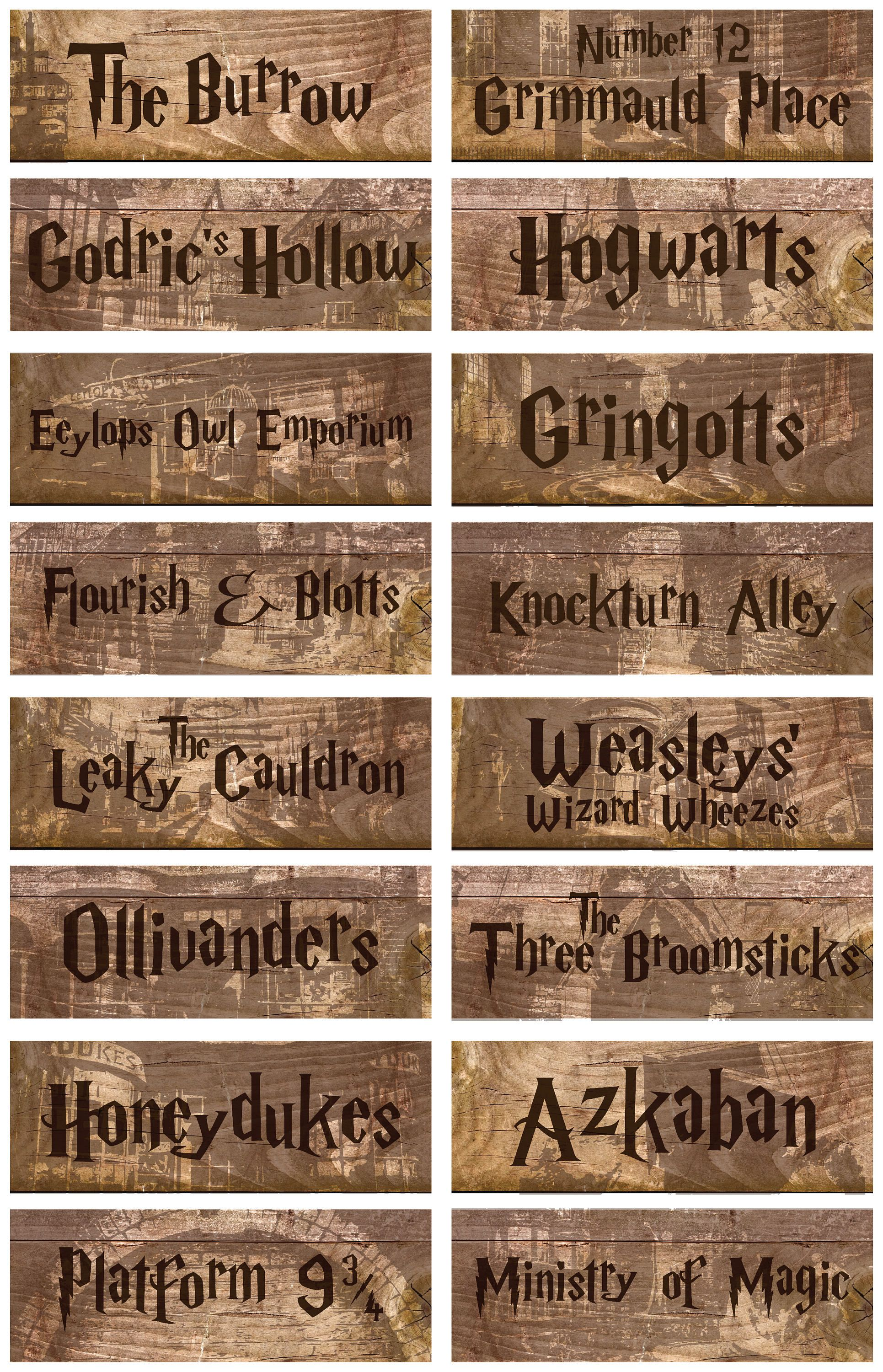 Harry Potter Printable Signs Wwwtopsimagescom