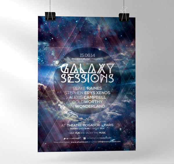Galaxy sessions | Flyer & Poster | Pinterest | Flyers, Galleries ...