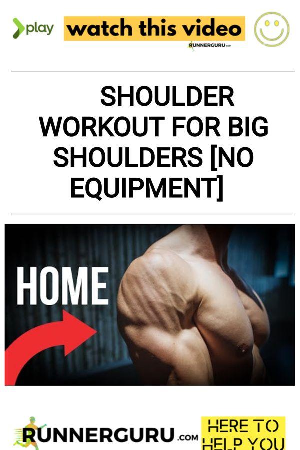 Shoulder Workout For BIG Shoulders [NO EQUIPMENT] | RunnerGuru