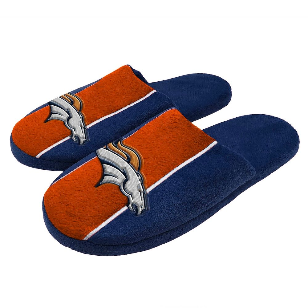 4acf429caa0 Men s Denver Broncos Slide Slippers