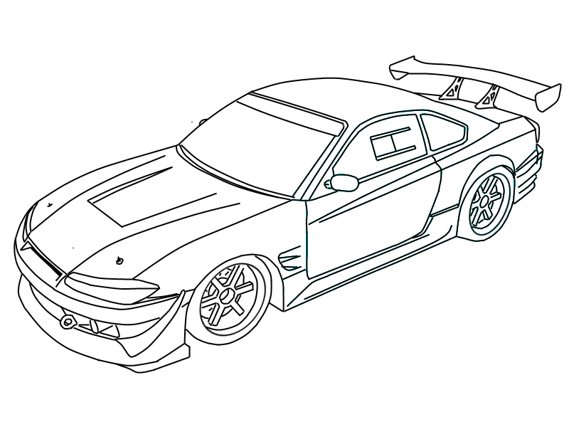 nissan skyline gtr to draw