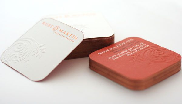 Square Business Card Rounded Corners Are A Nice Touch Branding