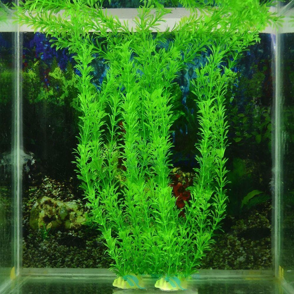 Artificial aquarium fish tank - 13 Green Artificial Plastic Plant Grass Fish Tank Aquarium Ornament Decoration Unbranded
