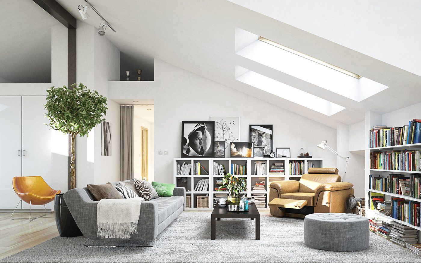 The Beauty Of Scandinavian Interior Decorations Is That Furnishings Could Be Scandinavian Decor Living Room Attic Living Rooms Scandinavian Design Living Room