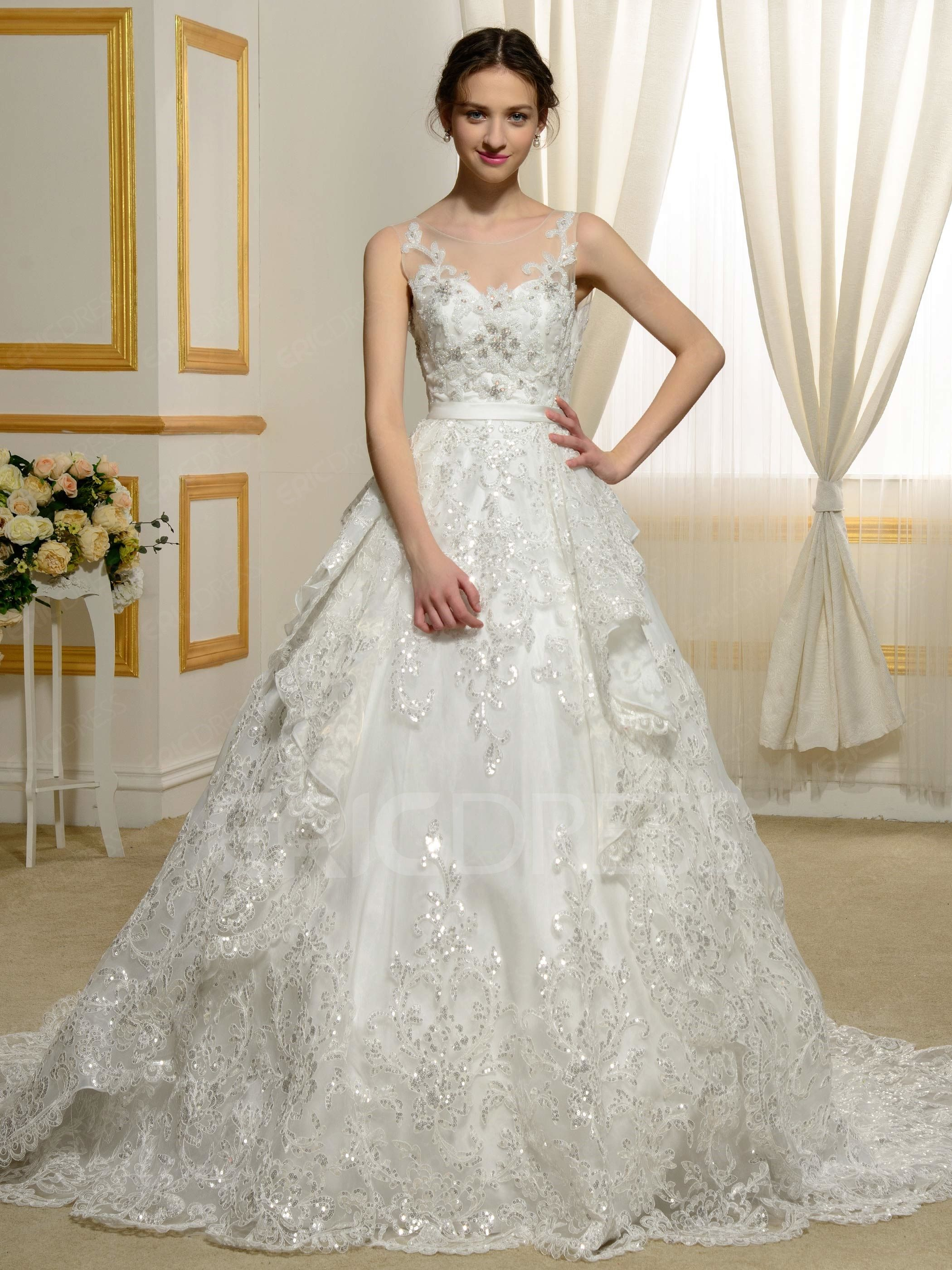 Gorgeous dress for wedding party  ericdress offers high quality Ericdress Gorgeous Appliques