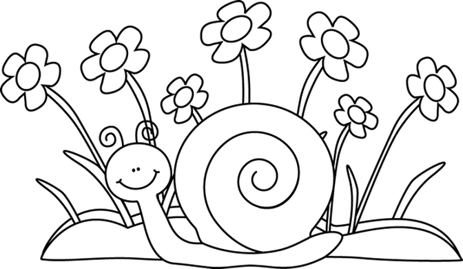 free cli art black and white row of flowers Ecosia