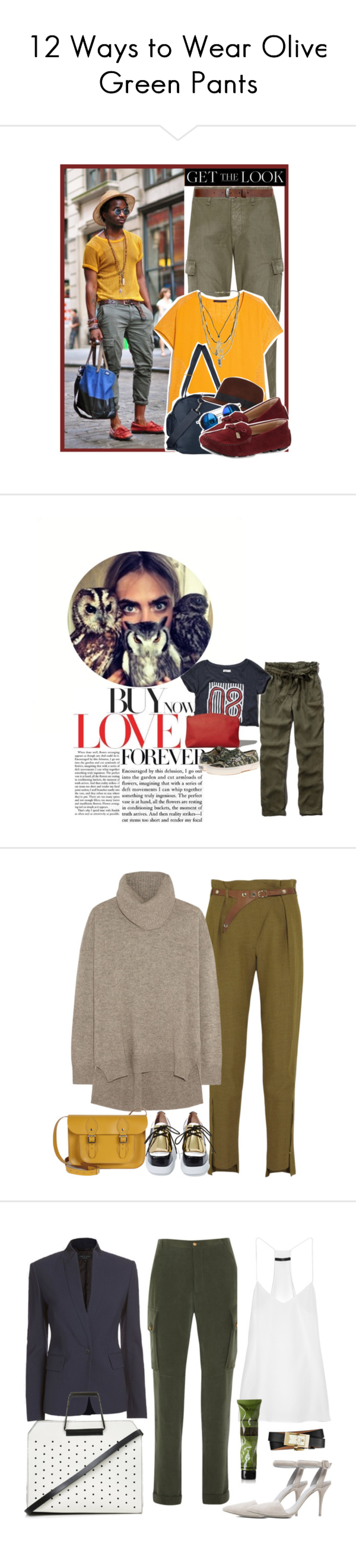 2019 year looks- How to green wear pants polyvore