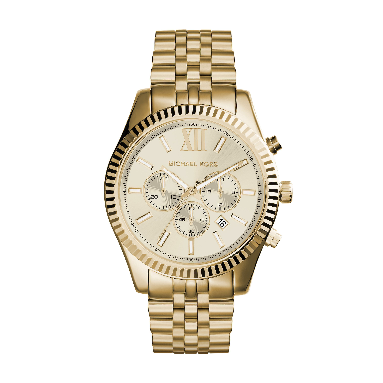 Michael kors mk mens bracelet watch gold metallic buy for