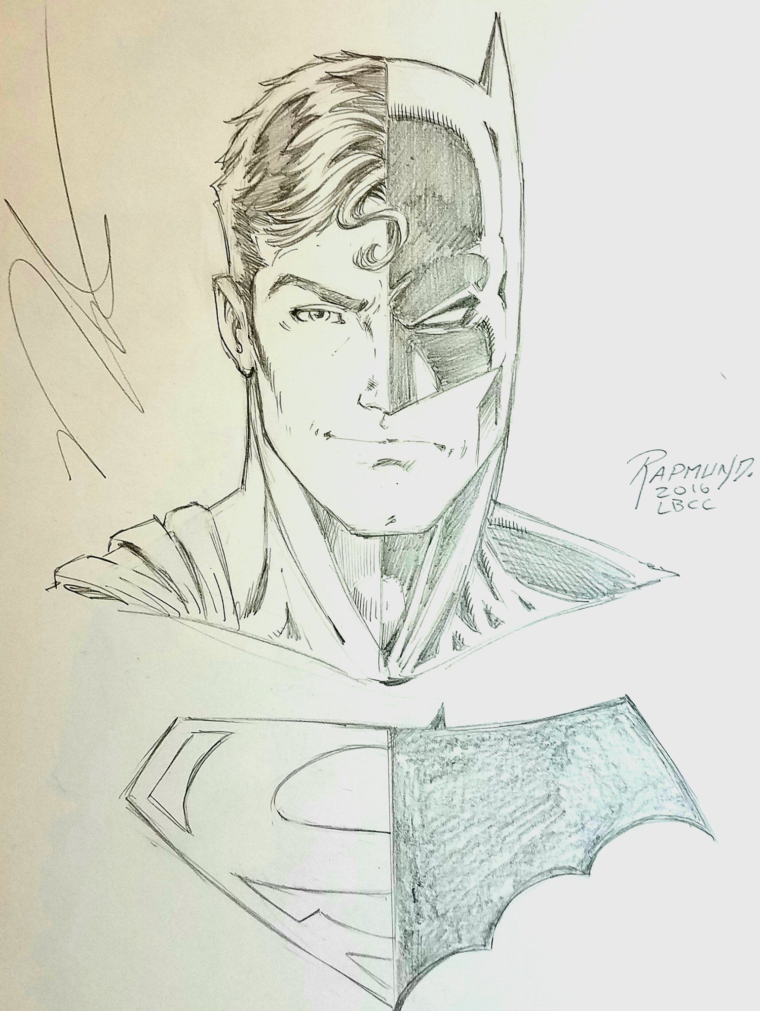Norm Rapmund Composite Superman Batman Commission