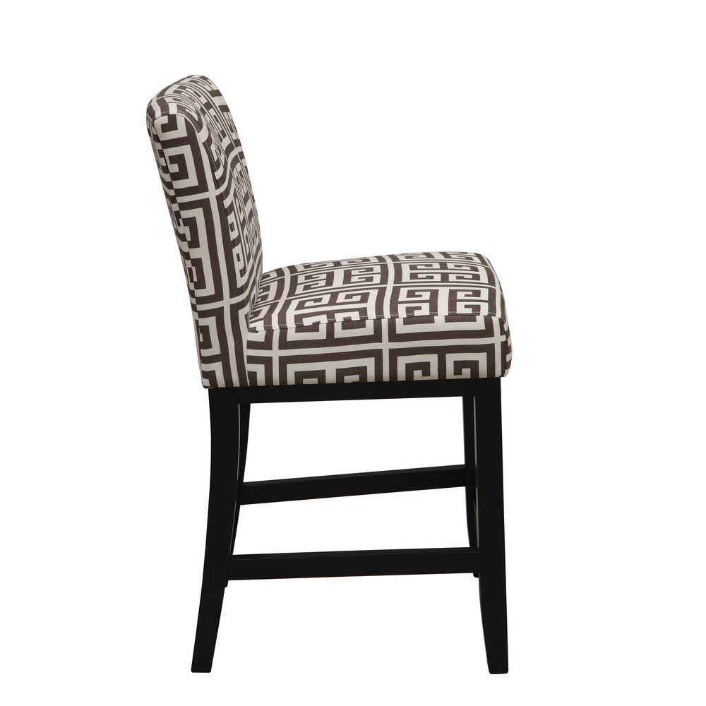 Portfolio Orion Brown Greek Key Upholstered 23 Inch Bar Stool