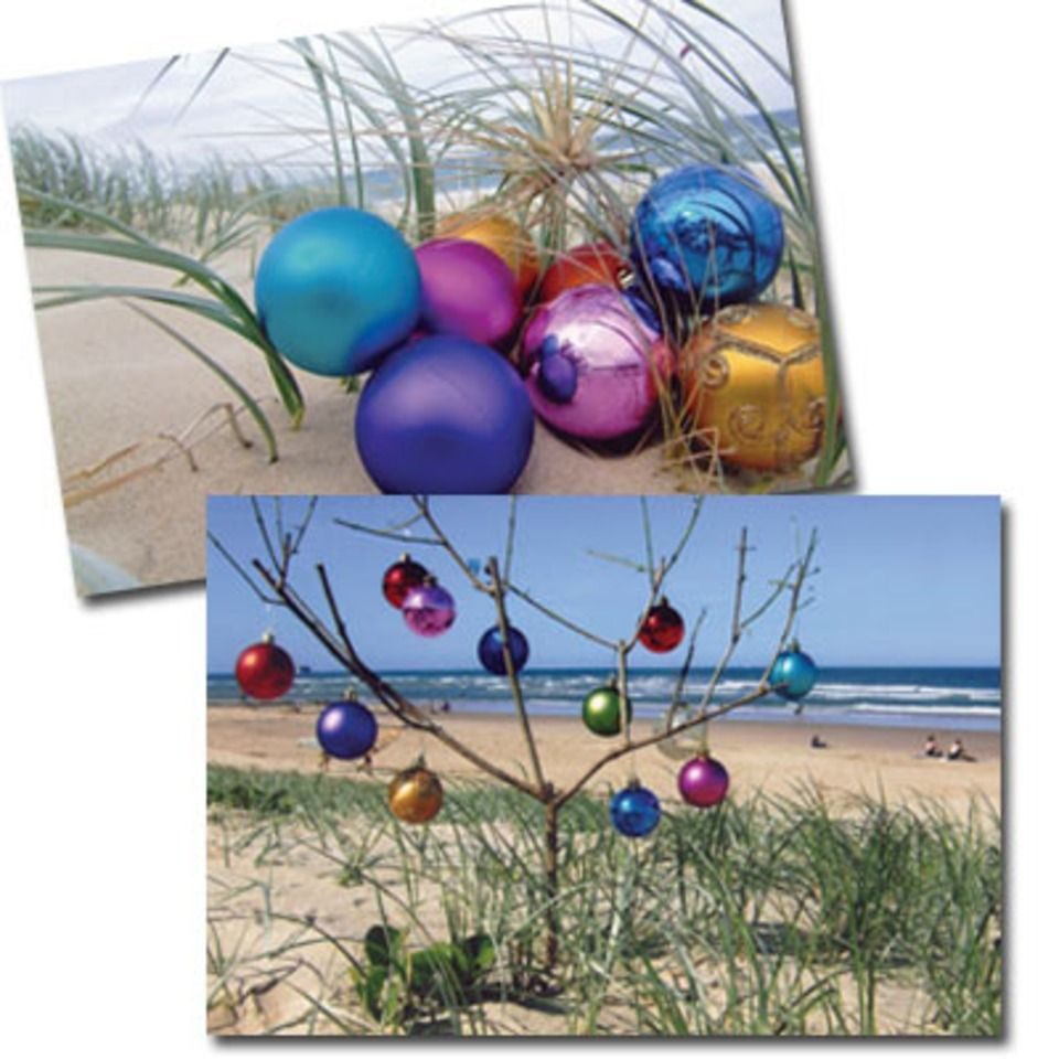 Christmas at the Beach cards! Pack of 10 (5 of each design