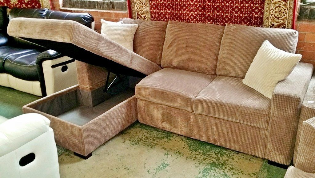 50 Off An Ex Display Sleeper Beige Cord Corner Sofa Bed 699 The Interior Outlet Discount Furniture Warehouse Sofa Outlet Discount Furniture Cheap Couch