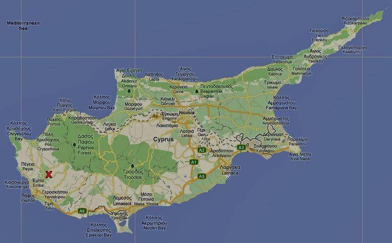 Auswanderm Nach Zypern Ubersichtskarte Zypern Zypern