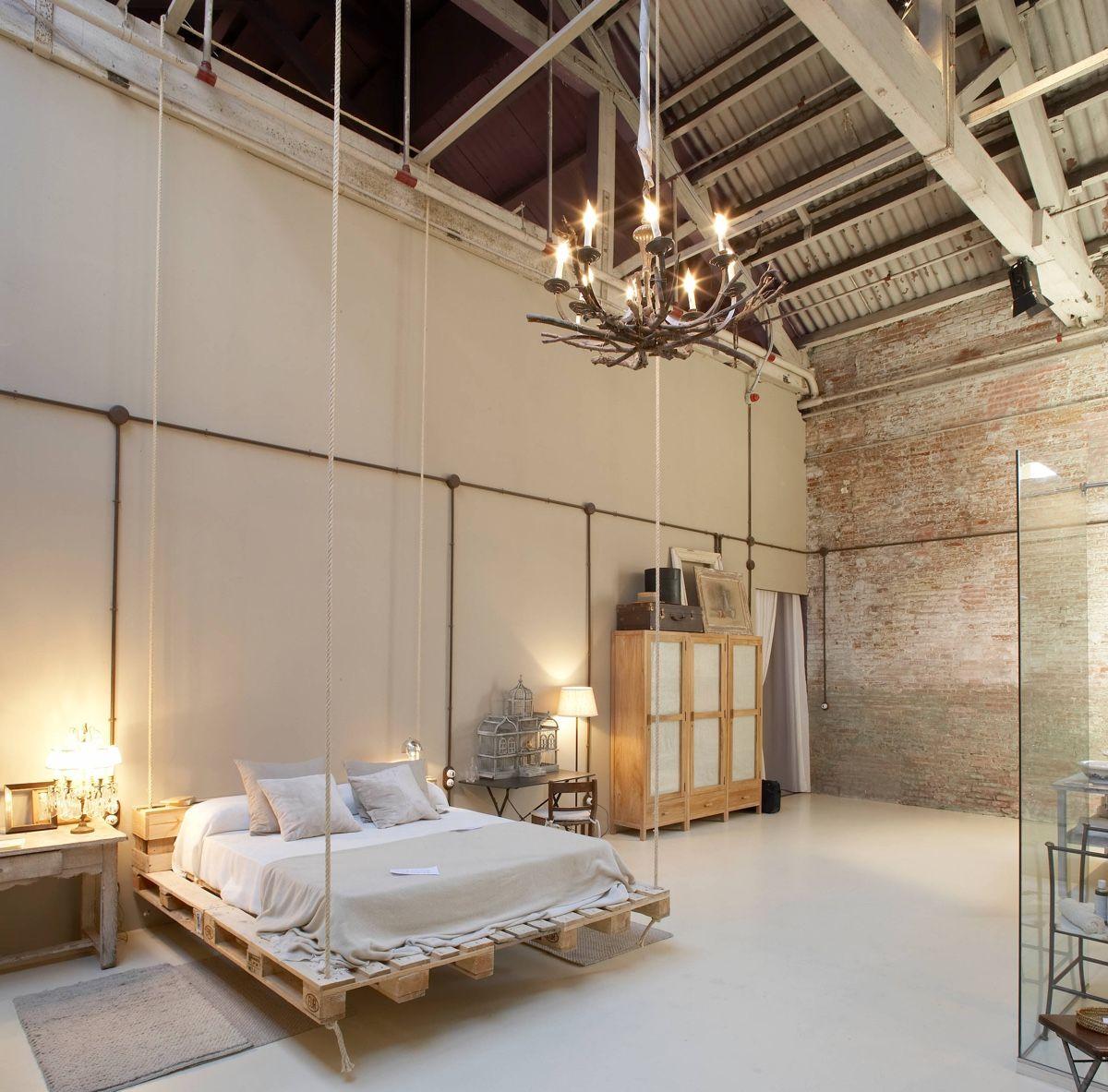 bedrooms with exposed brick walls | interior design. bedroom