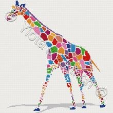 Giraffe cross stitch