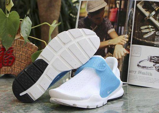 reputable site 9757c da682 Free Shipping Only 69  Nike Sock Dart Oreo Slip On Tech Fleece White Sky  Blue