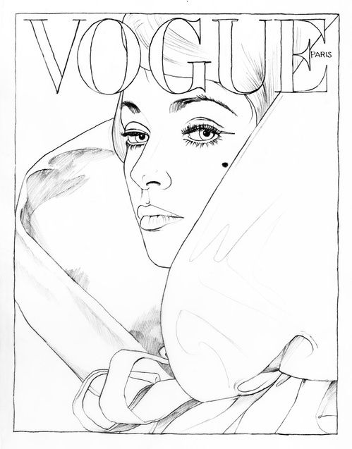 Vogue Paris A Colorier Magazine Cahier Coloriage Kate Moss Couvertures Dessins 5