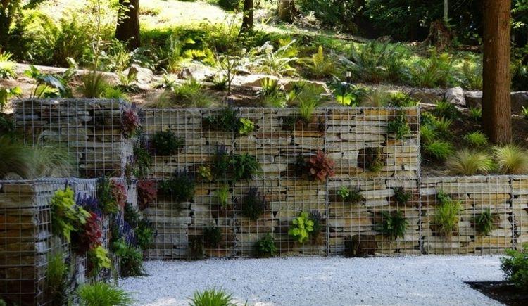 Moderne Deko Idee Unglaublich Deko Ideen Mit Gabionen Als Im Garten Mauern  Und Andere In Niedrige