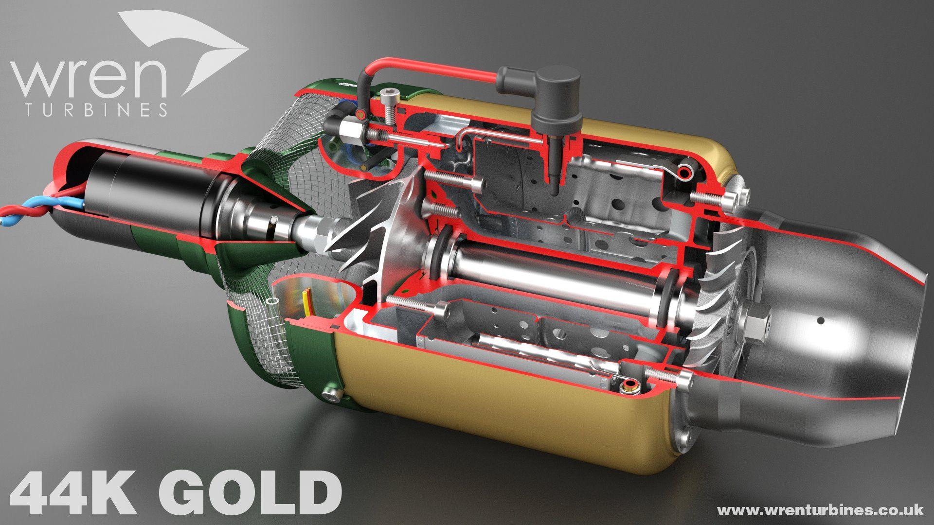Wren 44 Gold Thrust 45N / 4.5kg / 10lbs Weight 600g