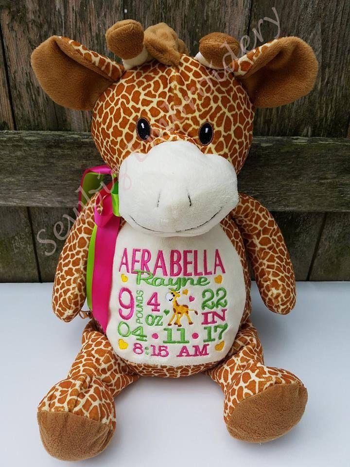 Personalized Baby Gift Giraffe Newborn Gift Birth