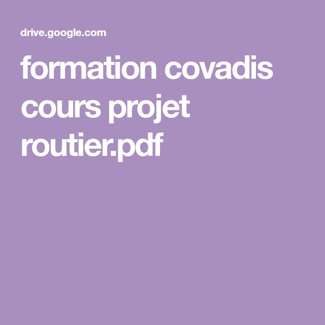 FORMATION VIDEO TÉLÉCHARGER GRATUIT COVADIS