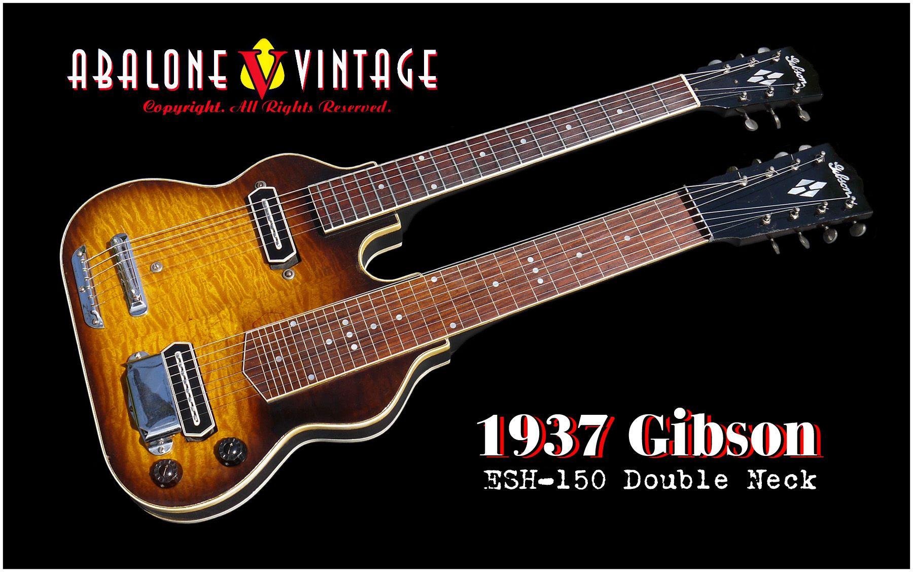 1937 Gibson Double Neck Guitar 1938 1930 S Dn Electric Guitar Body Electric Gibson