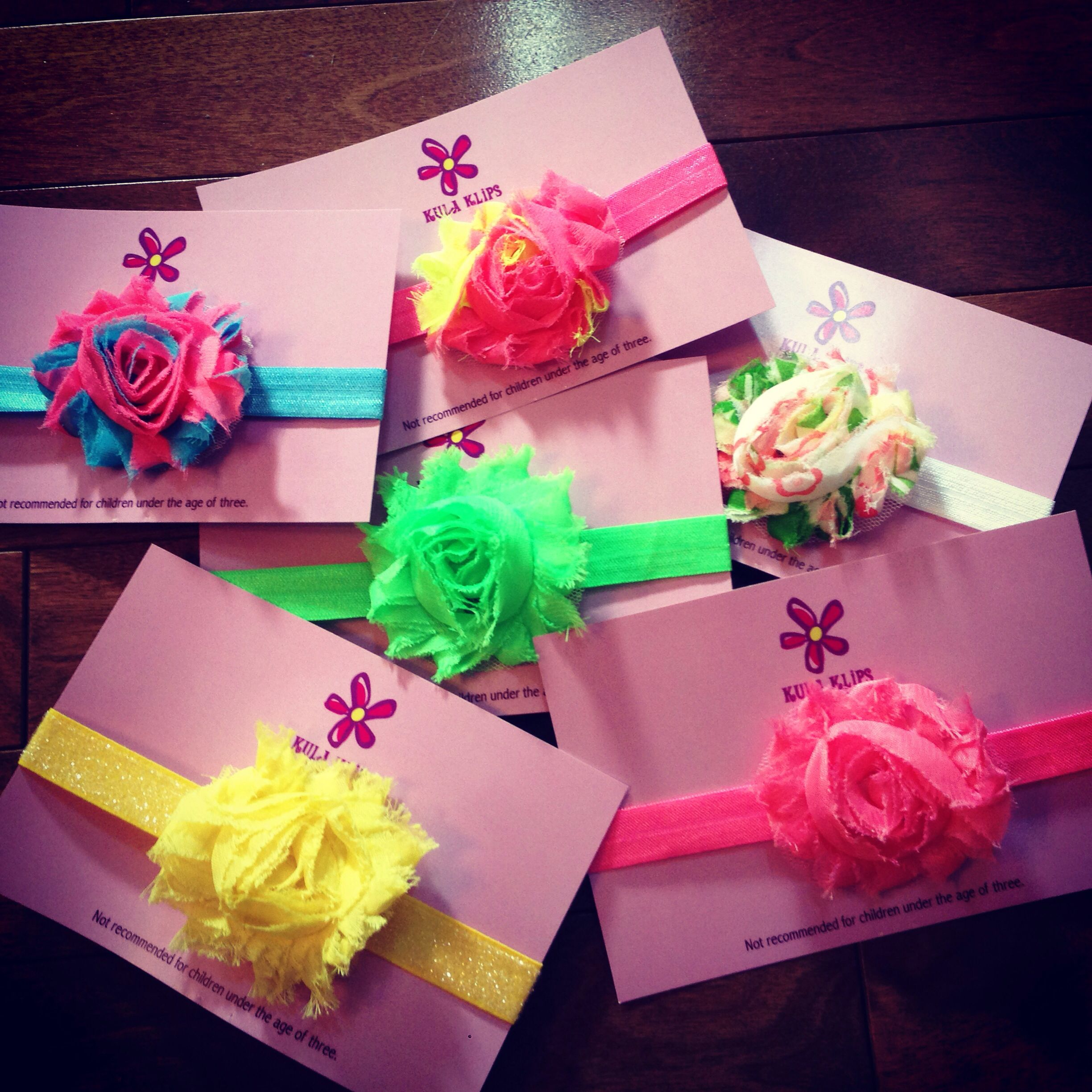 Neon shabby bands, perfect for summer brights!