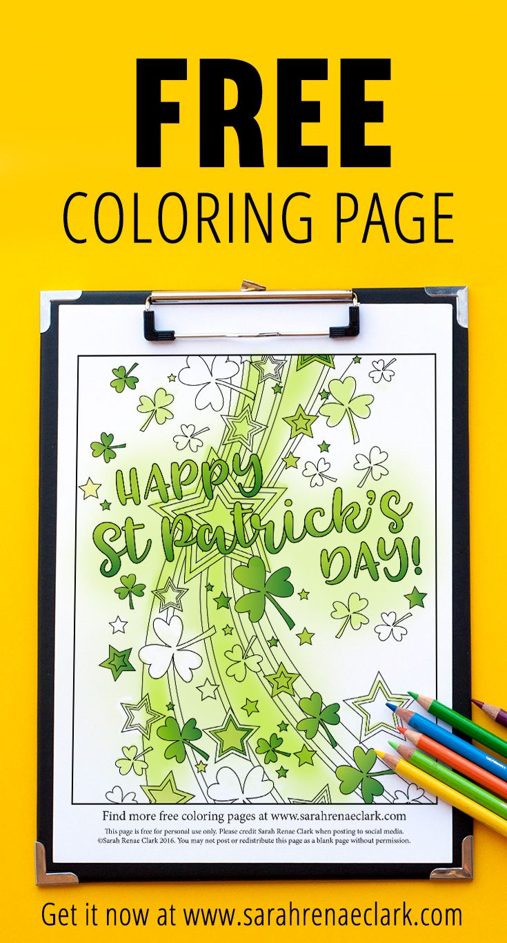 Free st patricks day coloring page st patricks day coloring