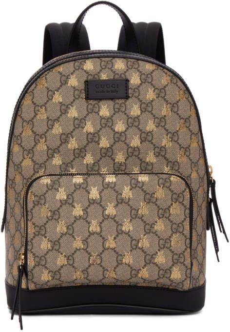 426efa9339de #Gucci Brown GG Supreme Bestiary #Backpack! Coated canvas backpack  featuring logo pattern in