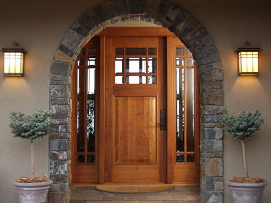 Lovely Residential Entry Doors with Sidelights