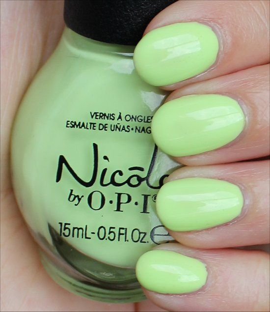 Nicole by OPI Lay It on the Lime Swatches & Review | Nails ...