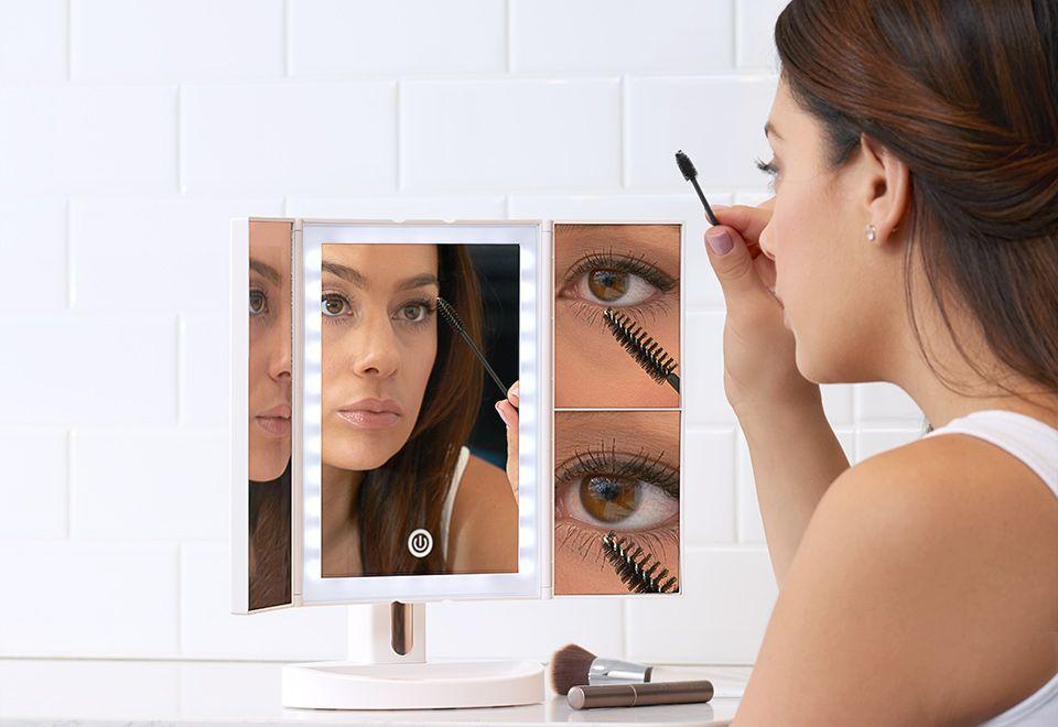 Premium multiple magnification vanity mirror sharper