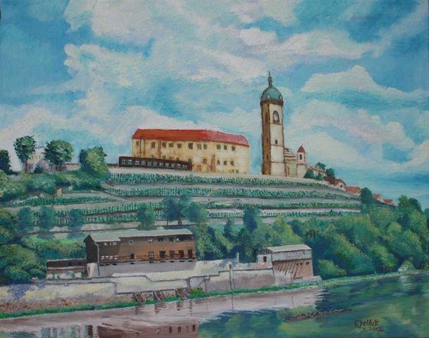 Mělnik Castle, the artist Libor Jellúš.